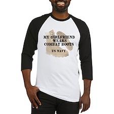 My Girlfriend Wears Navy DCB Baseball Jersey