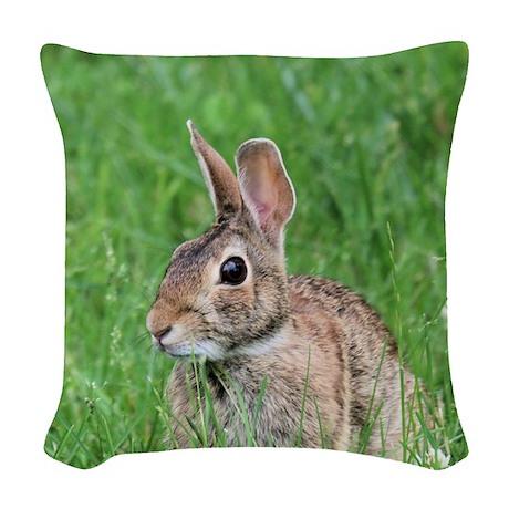 Bunny Woven Throw Pillow