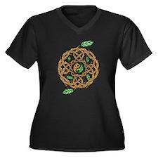 Celtic Balance Women's Plus Size V-Neck Dark T-Shi