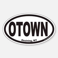 Ossining NY OTown Euro Oval Decal