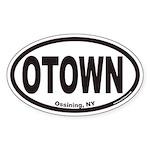 Ossining NY OTown Euro Oval Sticker