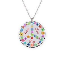 Peace Love Pigs Necklace