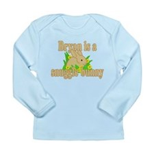 Bryan is a Snuggle Bunny Long Sleeve Infant T-Shir
