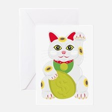 Cute Lucky cat Greeting Card