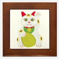 Unique Lucky cat Framed Tile