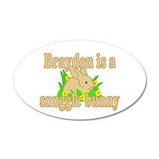 Brayden is a Snuggle Bunny 22x14 Oval Wall Peel