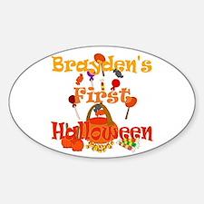 First Halloween Brayden Sticker (Oval)