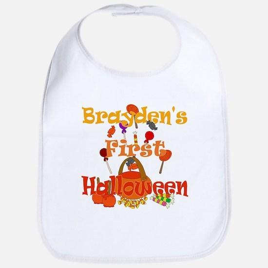 Brayden's First Halloween Bib