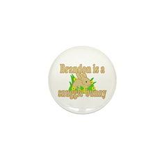 Brandon is a Snuggle Bunny Mini Button (100 pack)