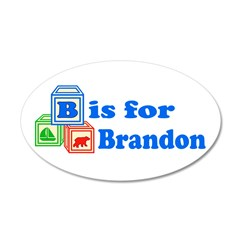 Baby Blocks Brandon 22x14 Oval Wall Peel