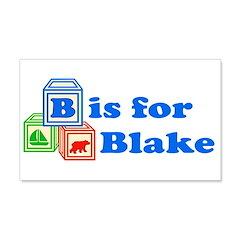 Baby Blocks Blake 22x14 Wall Peel