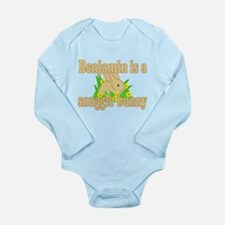 Benjamin is a Snuggle Bunny Long Sleeve Infant Bod