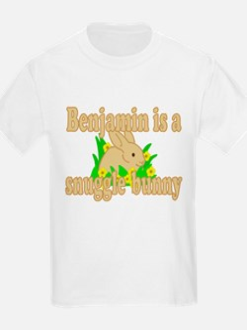 Benjamin is a Snuggle Bunny T-Shirt