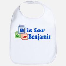 Baby Name Blocks - Benjamin Bib