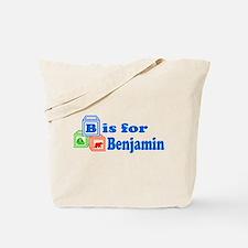 Baby Name Blocks - Benjamin Tote Bag