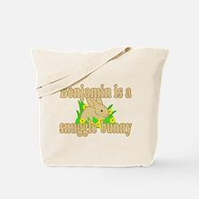 Benjamin is a Snuggle Bunny Tote Bag