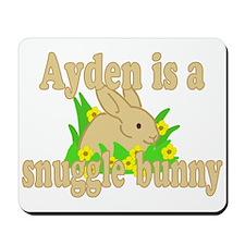 Ayden is a Snuggle Bunny Mousepad