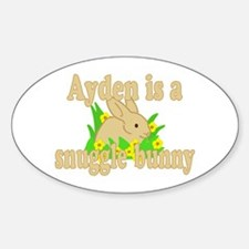 Ayden is a Snuggle Bunny Decal