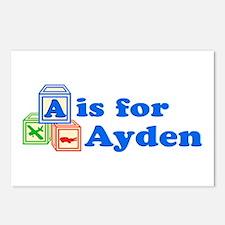 Baby Blocks Ayden Postcards (Package of 8)