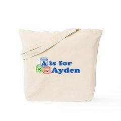 Baby Name Blocks - Ayden Tote Bag