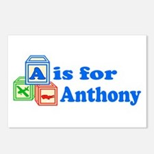 Baby Blocks Anthony Postcards (Package of 8)