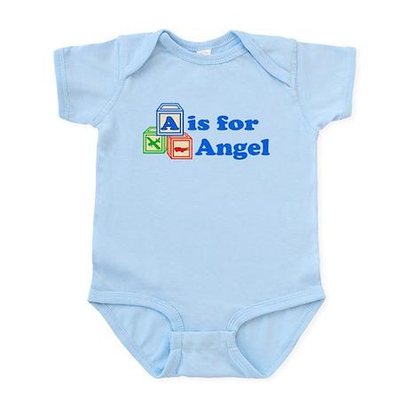 Baby Name Blocks - Angel Infant Bodysuit