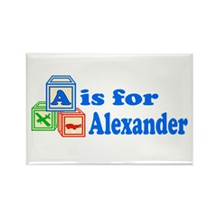 Baby Blocks Alexander Rectangle Magnet (10 pack)