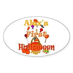 First Halloween Alex Sticker (Oval)
