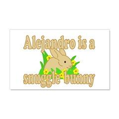 Alejandro is a Snuggle Bunny 22x14 Wall Peel