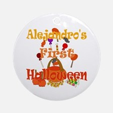 First Halloween Alejandro Ornament (Round)
