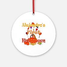 First Halloween Alejandro Ornament (Round)