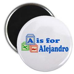 Baby Blocks Alejandro Magnet
