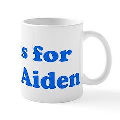 Baby Blocks Aiden Mug