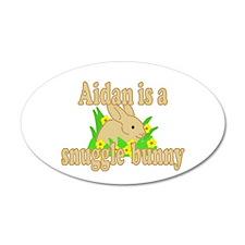 Aidan is a Snuggle Bunny 22x14 Oval Wall Peel