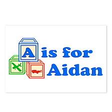Baby Blocks Aidan Postcards (Package of 8)
