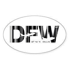 Dallas Airport Code Texas DFW Decal
