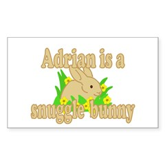 Adrian is a Snuggle Bunny Decal