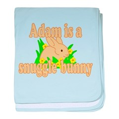 Adam is a Snuggle Bunny baby blanket