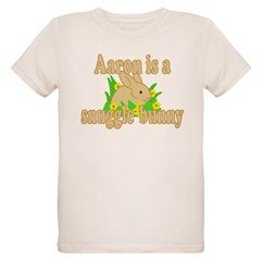 Aaron is a Snuggle Bunny Organic Kids T-Shirt