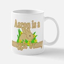 Aaron is a Snuggle Bunny Mug