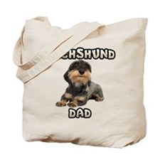 Wirehaired Dachshund Dad Tote Bag