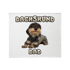 Wirehaired Dachshund Dad Throw Blanket