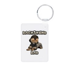Wirehaired Dachshund Dad Keychains