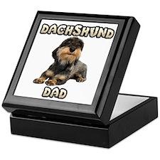 Wirehaired Dachshund Dad Keepsake Box