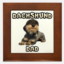 Wirehaired Dachshund Dad Framed Tile