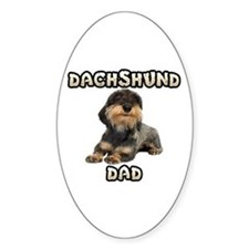 Wirehaired Dachshund Dad Decal