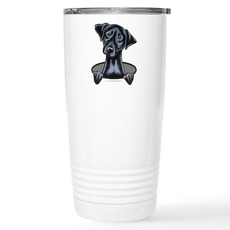 Black Lab Hole Stainless Steel Travel Mug