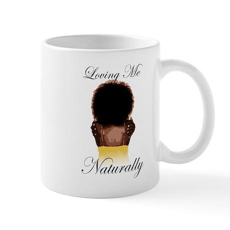 Loving Me Naturally Afro Natural Hair Hug Mug