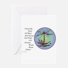 BRIGHT DRAGONFLY SPIRIT Greeting Card