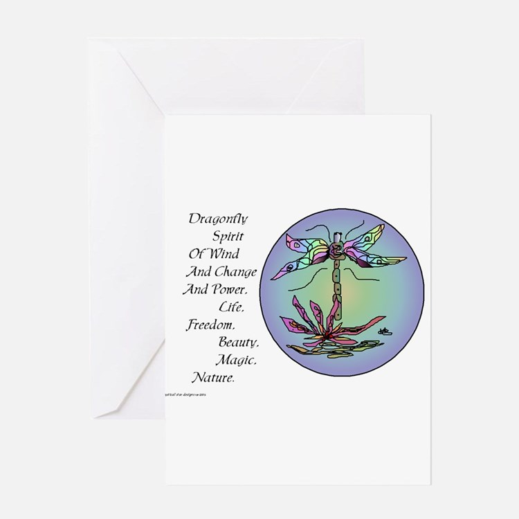 BRIGHT DRAGONFLY SPIRIT Greeting Card